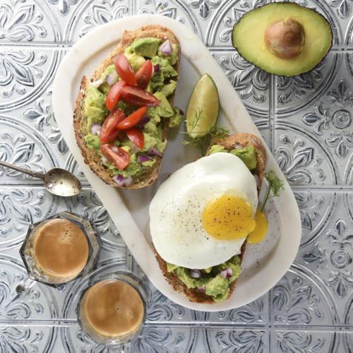 avocado toast runny egg